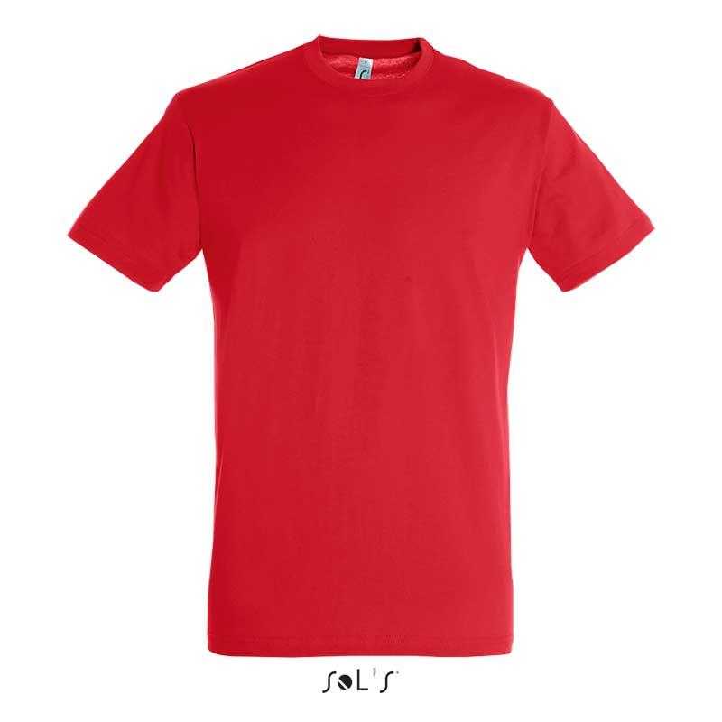 красная футболка для вышивки логотипа на заказ