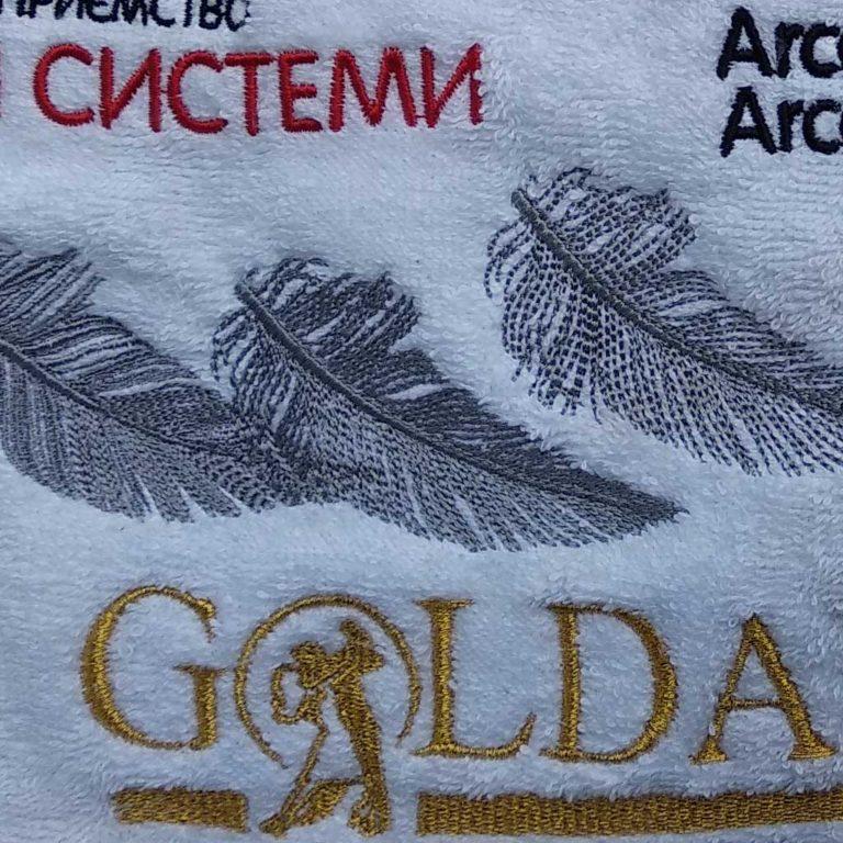 Вышивка на махровом полотенце