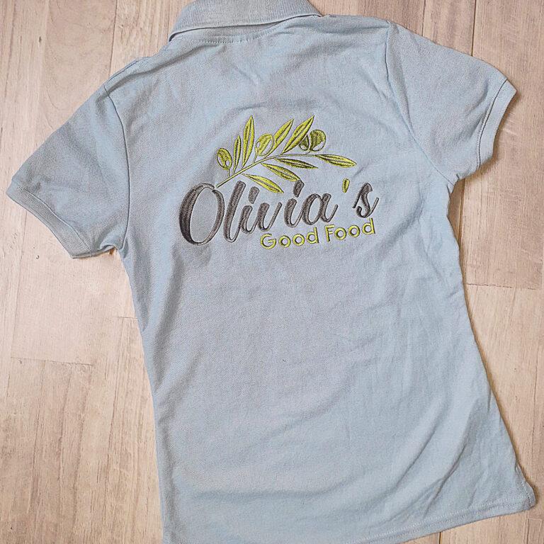 вишивка логотипу на футболці