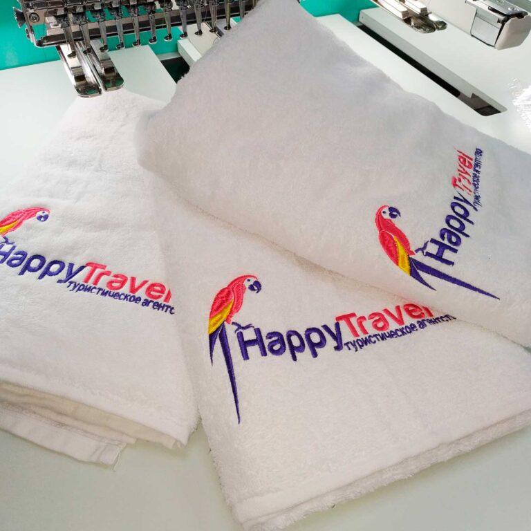 махровий рушник з логотипом на замовлення