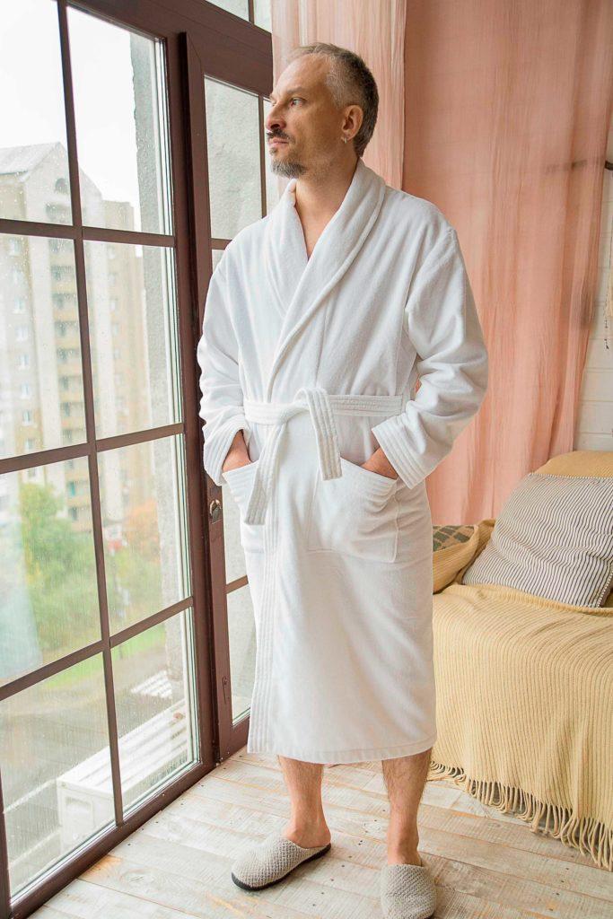 халат махровый с логотипом